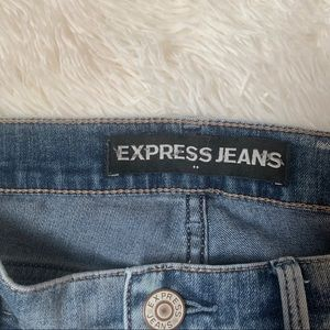 Express Jeans - EUC! Express Mia acid wash skinny jeans, 10 LONG